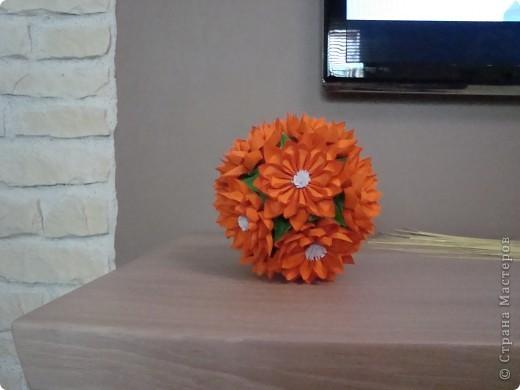"Кусудама цветочная. Идея от ""Приветик"" .  фото 1"