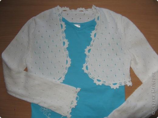 """Этот свитер был связан давно для старшей дочери. Схема взята из журнала """"Веселые петельки"""" №2 2003 года. фото 3"""