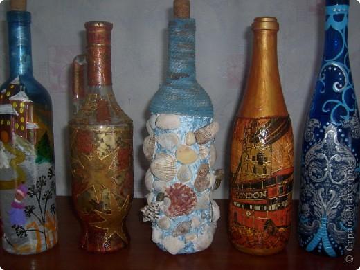 Декоративные бутылки фото 1