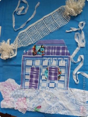 """Дом самого Морозко - сказка """"Морозко"""" Аппликация из ткани, народная кукла. фото 2"""