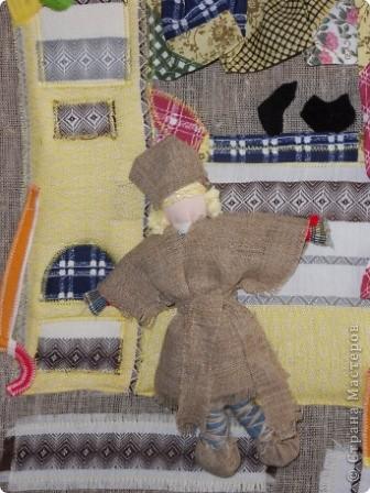 """Дом самого Морозко - сказка """"Морозко"""" Аппликация из ткани, народная кукла. фото 4"""