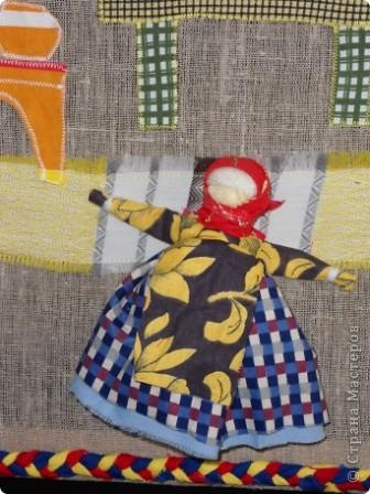 """Дом самого Морозко - сказка """"Морозко"""" Аппликация из ткани, народная кукла. фото 5"""