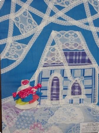 """Дом самого Морозко - сказка """"Морозко"""" Аппликация из ткани, народная кукла. фото 1"""