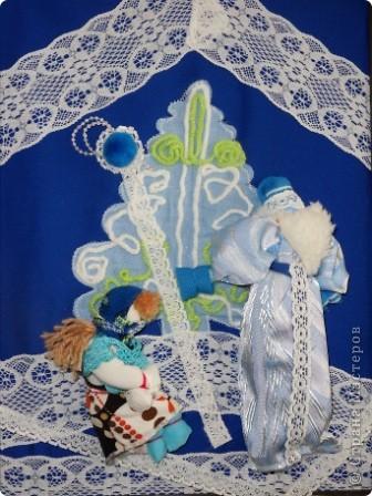"""Дом самого Морозко - сказка """"Морозко"""" Аппликация из ткани, народная кукла. фото 9"""