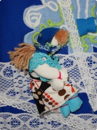 """Дом самого Морозко - сказка """"Морозко"""" Аппликация из ткани, народная кукла. фото 10"""