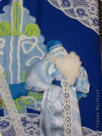 """Дом самого Морозко - сказка """"Морозко"""" Аппликация из ткани, народная кукла. фото 11"""