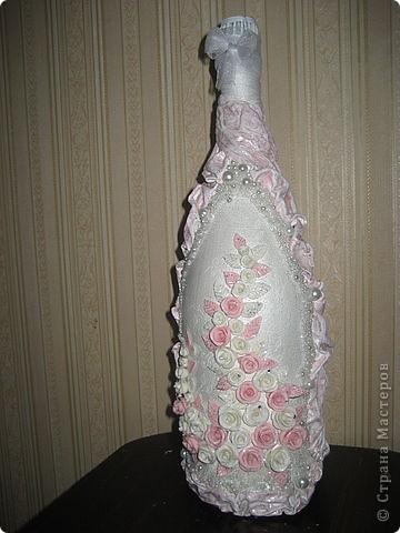 Свадебный декор бутылочки