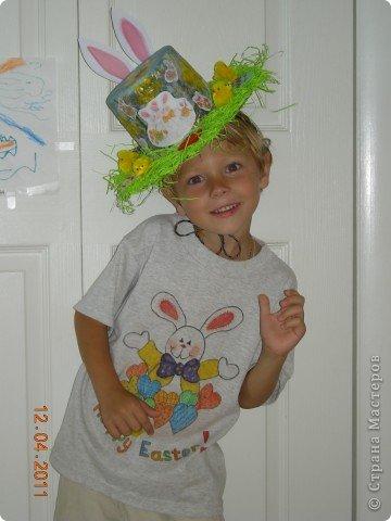 Задали нам, родителям, задачку в детском саду - соорудить шляпу на парад пасхальных шляп. Вот такая она у меня получилась! фото 7