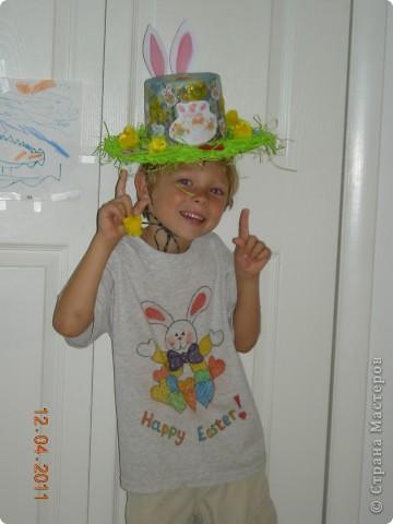 Задали нам, родителям, задачку в детском саду - соорудить шляпу на парад пасхальных шляп. Вот такая она у меня получилась! фото 8