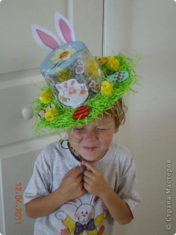 Задали нам, родителям, задачку в детском саду - соорудить шляпу на парад пасхальных шляп. Вот такая она у меня получилась! фото 9