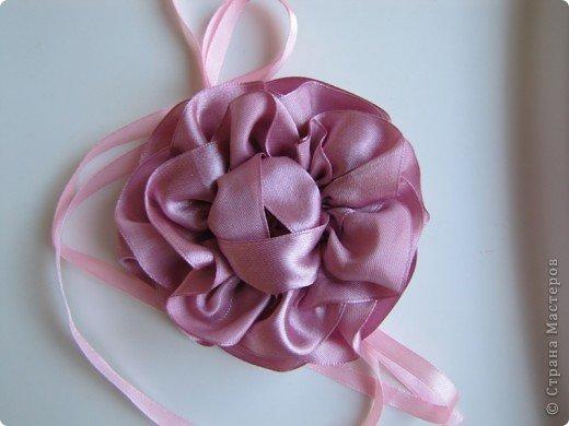 Цветок из лент мк фото 1