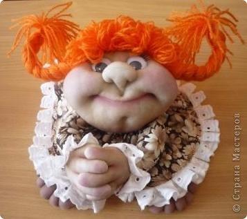 Девочки! Глядя на созданных вами  кукол, захотелось самой сотворить такую прелесть. Вот мое первое чудо! фото 1