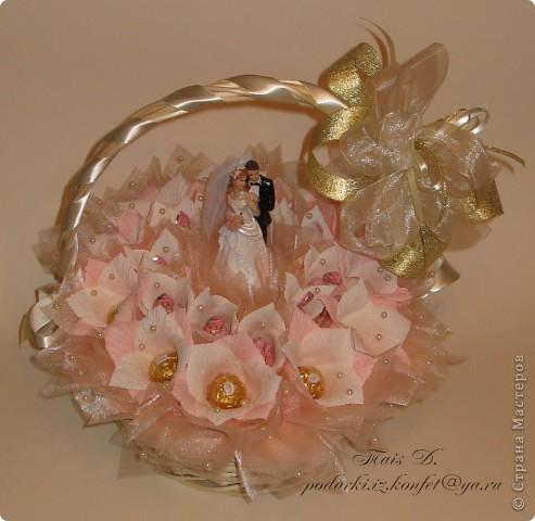 Сладкий букет из конфет своими руками на свадьбу 81