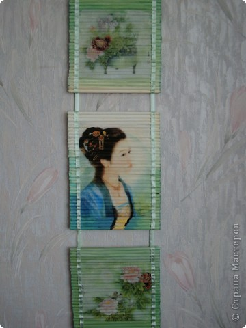 Картина панно рисунок Декупаж Панно из газетных трубочек Бумага газетная Краска Салфетки фото 3