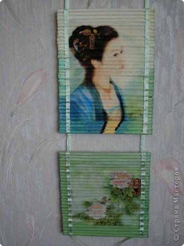 Картина панно рисунок Декупаж Панно из газетных трубочек Бумага газетная Краска Салфетки фото 7