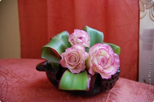 """Моя первая роза из самодельного """"холодного фарфора"""". фото 2"""