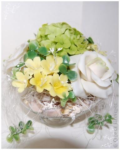 """Моя первая роза из самодельного """"холодного фарфора"""". фото 4"""