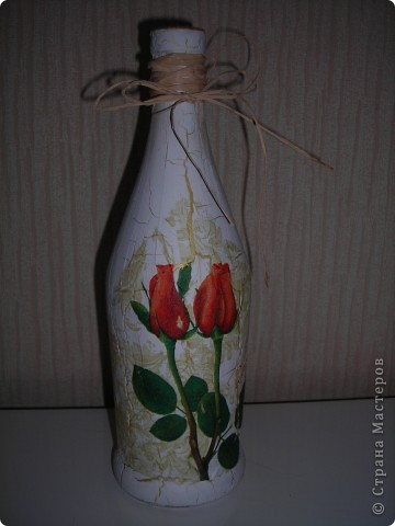Была бутылка, стала вазочка фото 1