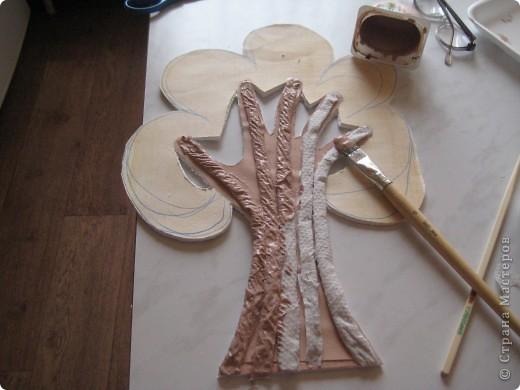 Дерево для пано,делаю пано для внучки, декориру комнату, технику изготовления подсмотрела в МК.Девочки помогите, на коменты не могу ответиь не работает поле, отзовитесь. фото 5