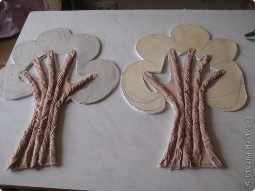 Дерево для пано,делаю пано для внучки, декориру комнату, технику изготовления подсмотрела в МК.Девочки помогите, на коменты не могу ответиь не работает поле, отзовитесь. фото 7