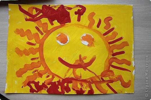 """Здравствуйте! Наконец-то появилось у меня немного свободного времени разместить работы своих детишек.  Это первый рисунок моего сына. Называется """"Северное сияние"""". фото 2"""