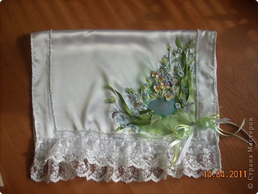 Вот такое нестандартное решение Пасхального полотенечка получилось у меня , в этом году:-)  фото 2