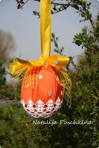 Пасхальные яйца вязаные крючком фото 4