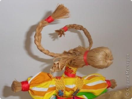 Спасибо мастерицам страны! Изучала куклы и на сайте страны и на сайте Народная кукла. Училась и работала с детьми. Работали втроем с девочками. Я предложила идею кукол, материал, подобрала ткань, а исполнители - мои ученицы Марина и Алиса. Фотки добавлю. фото 3
