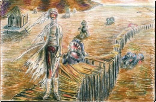 Цветные карандаши, работа сделана по заданию в университете, нужно было нарисовать аллегорию искусства. Это должно изображать светящийся золотой поток, который рождает рука художника фото 8