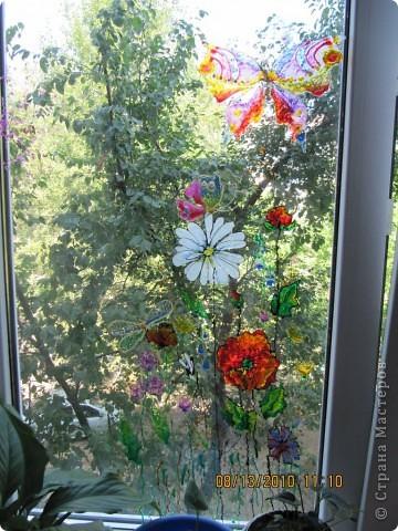 Рисунок на окне фото 2