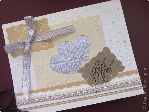 Заказали изготовить свадебную открыточку. Вот что у меня получилось. фото 1