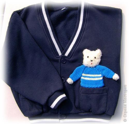 Мастер Класс  «Мишка для сынишки» или скорая помощь для детской одежды.