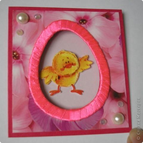 И снова цыплята. Это мини-открыточки. Размер в сложенном виде - 7,5х8 см. Цыплята - с салфетки. Создала эффект 3D.  фото 8