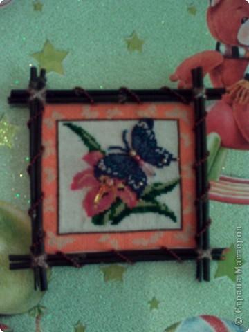 Бабочка. Вышивка крестом и бисером фото 1