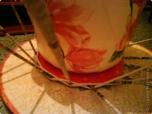 красила лак клен по краям, полоска белой акриловой краской и на дне (под салфетку) фото 5