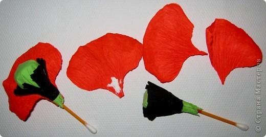 Так давно хотела попробовать сделать цветок мака. фото 7