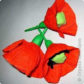Так давно хотела попробовать сделать цветок мака. фото 2
