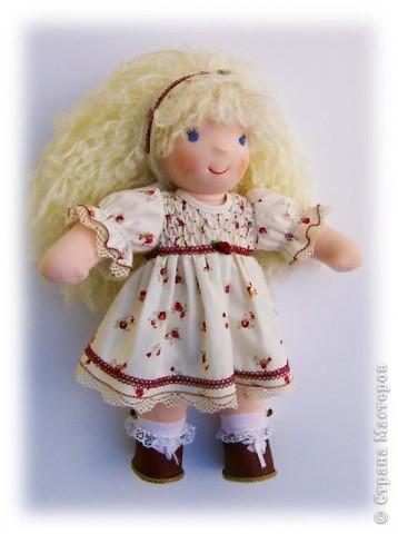 Моё новое произведение :-) .Игровая куколка Белянка. Вальдорфская технология. фото 1