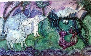 """""""Африканские слоны""""Эта новая работа Валерии,выполнена декоративной штукатуркой на фанере,раскрашена акрилом с воском. фото 1"""