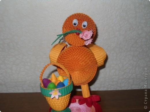 Это цыплёнок из гофрокартона фото 1