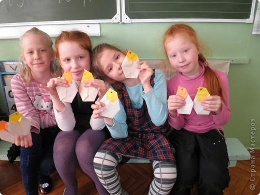 кружок оригами у первоклашек