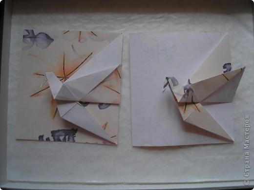 Вот такую журавлиную открыточку я увидела у Мария Синайской http://www.flickr.com/photos/51642560@N02/page4/ Уж очень она мне припала к душе..... фото 1