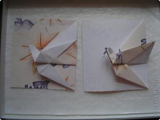 Вот такую журавлиную открыточку я увидела у Мария Синайской http://www.flickr.com/photos/51642560@N02/page4/ Уж очень она мне припала к душе..... фото 2