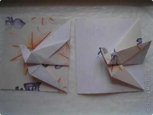 Вот такую журавлиную открыточку я увидела у Мария Синайской http://www.flickr.com/photos/51642560@N02/page4/ Уж очень она мне припала к душе..... фото 3
