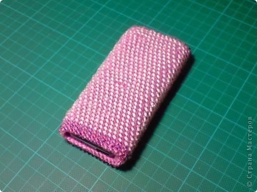 Чехольчик для мобильного телефона с бисером