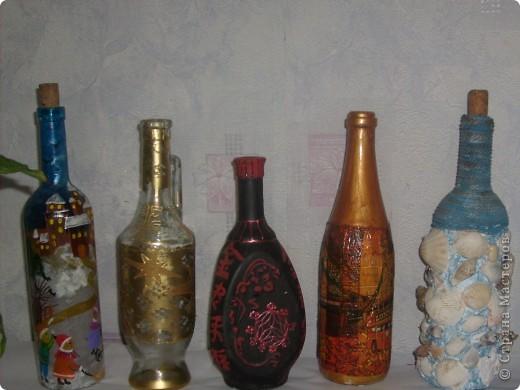 Декоративные бутылки фото 2