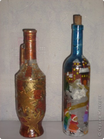 Декоративные бутылки фото 4