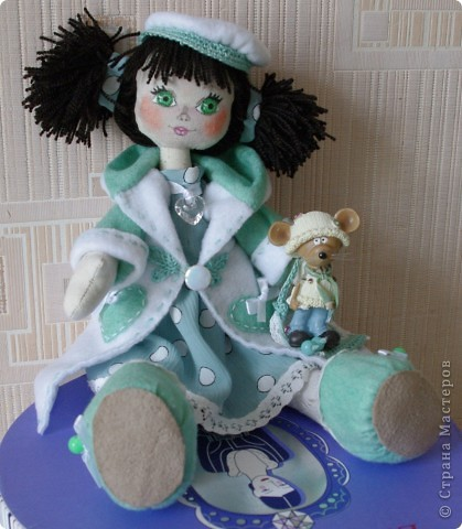 Кукла Иришка.  Назвала её так в честь Мастера Феи, которая вдохновила меня своими замечательными куклами  фото 6