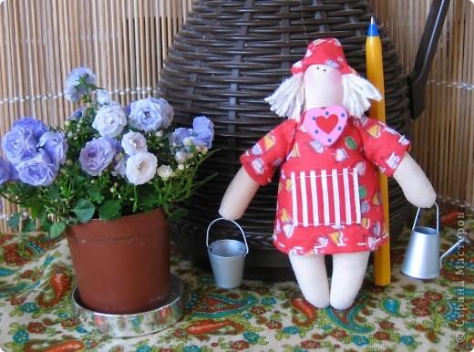 Маленький садовый человечек 12 см в подарок подруге. фото 1