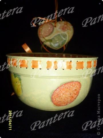 Такой наборчик получился к Пасхе : пасхальное лукошко под яйца и подвески  фото 3